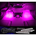 Car Decorative Atmosphere Lamp Charge LED Interior Floor Decoration Light with Mini Dimmer LED Single Color 4PCS