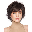 Dark Brown Full Wig for Women Cheap Wigs Short Curly Synthetic False Hair Short Natural Womens Wigs