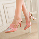 Womens Shoes Patent Leather / Leatherette Stiletto Heel Heels /  Pointed Toe Heels Office  Career / Party  Evening