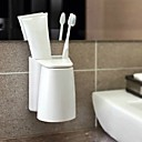 Magnet Toothbrush Holder Bathroom Kitchen Family Toothbrush Suction Cups Holder Magnetic Cup Storage Organizer