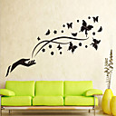 Flying Black Butterfly Wall Stickers
