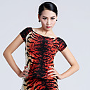 Imported Nylon Viscose with Pleated Latin Dance Tops for Womens Performance (More Colors)