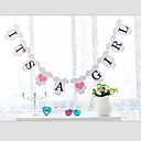 I TS  A BOY GIRL Baby Shower with Ribbon Gender Reveal Party Banner Bunting Birthday Decor