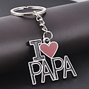 I LOVE PAPA Keychain for Gift