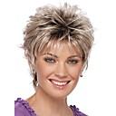 Image of 2016 nuove donne brevi ricci parrucche sintetiche bionda parrucca di capelli con le radici scure parrucca capelli ombre