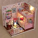 Image of regali creativi diy dono tecnologia di compleanno modello capanna casa delle bambole fai da te tra cui tutte le luci mobili lampada a led