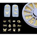 Image of 1set (120pcs) - Adesivi 3D unghie - Adorabile - Dito / Dito del piede - di Metallo - mix sizes