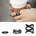 Black Queen Adjustable Ring Set Midi Rings(Set of 3)