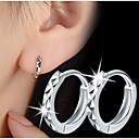 S925 Fine Silver  Hoop Earrings for MenWomen,Fine Jewelry