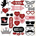 Lovers 27 PCS Paper Photo Props for Valentines Day Wedding Decoration