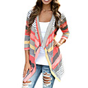 Womens Color Block Multi-color Cardigan , Casual / Cute Long Sleeve