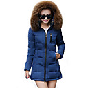 Womens Long Sleeve Winter Parka Coat , Casual Cotton Mid Long Fur Hooded Donw Jacket (More Colors)