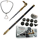 Assassins Creed Syndicate Cane Sword Cosplay Accessories (Alloy Ring Badge Necklace Key Buckle 13Pcs Set)