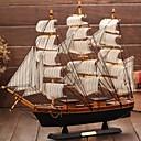 Image of legno modello barca a vela nel Mediterraneo pirata regalo nave nave mestiere manufatti per l'arredamento lisce (colore ramdon)