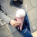 Image of Per donna Sacchetti PU Borsa per cosmetica / Borsa a tracolla Pelliccia A quadri Rosa / Azzurro chiaro / Autunno inverno