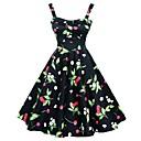 Classic  Traditional Lolita Sleeveless Medium Length Black Cotton Lolita Dress
