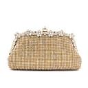 L.WEST Womens Luxury High-grade Flower Diamonds Party/Evening Bag