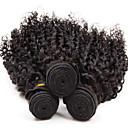 3Pcs 8-26inch Brazilian Virgin Hair Deep Curly Color 1B# Unprocessed Raw Virgin Human Hair Weaves Hot Sale.