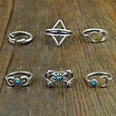 Womens Alloy Ring Turquoise Alloy 6 Pieces