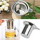 in acciaio inox coppa maglia durevole filtro riutilizzabile di chiusura a base di erbe filtro del tè infusore