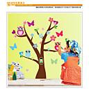 MJ8002 Cute Wise Owls Tree Wall Stickers for Kids  Nursery Cartoon Children Decals Animals Mural Arts Flowers