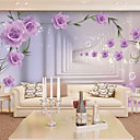 JAMMORY Floral Wallpaper Contemporary Wall Covering,Other Purple Flowers Large Mural Wallpaper