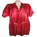 Men Chinese Silk Sleepwear Long Robes Bathrobe Pajamas Black Navy Blue Dark Red White Light pink Free shipping