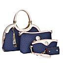 Image of Per donna Sacchetti PU Tote / Pochette / Borsa a tracolla Set di borsa da 4 pezzi Tinta unita Marrone / Blu / Rosa / sacchetto regola