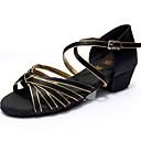 Non Customizable Womens Dance Shoes Latin Satin/Leatherette Customized Heel