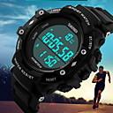 SKMEI Da uomo Orologio sportivo LCD Calendario Resistente all'acqua Due fusi orari Tre fusi orari allarme Luminoso Pedometro Cronometro