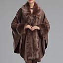 Women Faux Fur Shawl  Wrap , Without Lining