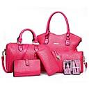 Image of Per donna Sacchetti PU sacchetto regola Set di borse da 5 pezzi Fucsia / Rosso / Blu