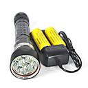 200m subacquea 8000LM 4xxm-l2 ha portato le immersioni subacquee Torcia Flashlight set completo di caricabatteria