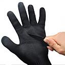 Image of 1 paio di guanti di sicurezza di lavoro nero cut-resistenti di protezione in acciaio inox filo macellaio guanti anti-taglio