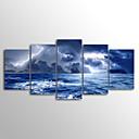 Image of Set Tela Unframed Stampa trasferimenti su tela Paesaggi Modern,Cinque Pannelli Tela Orizzontale Stampa artistica Decorazioni da pareteFor