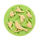 Image of Prima classe 7 cavità bella silicone di fondente di uccelli con colore di prezzi competitivi casuale