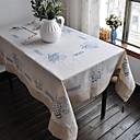Image of Rettangolare Floreale Tovaglie , Lino MaterialeCena Decor Favor Decorazione casa Hotel Dining Table Wedding Party Decoration Cena