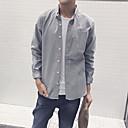 2017 uomini nuovi di primaveraamp;# 39; s minimalista di colore solido camicia casual oxford porto camicia onda pollici m