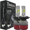 Image of Txvso8 auto led 2x h4 hi / lo auto fari 252w 25200lm auto ha condotto lampadine h4 h / l fascio automobili fari fendinebbia 6500k fari