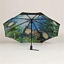 Image of modello totoro pieghevole in gomma nera tripla pieghevole completamente automatica con mini ombrelli anti-uv parasole