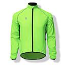 Image of SPAKCT Per uomo Giacca da ciclismo Bicicletta Top Antivento Gli sport Tinta unica Verde Ciclismo da montagna Cicismo su strada Abbigliamento Comodo Abbigliamento ciclismo