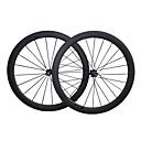 700CC Juego de Ruedas Ciclismo 20.5 mm Bicicleta de Pista Carbón / Aleación de aluminio / Acero Ranura de la Llanta F:20 R:24 Radios 60 mm