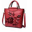 Image of Donna Sacchetti Per tutte le stagioni Altro tipo di pelle Borsa a tracolla con Cerniera per Casual Rosso Verde scuro Marrone