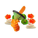 Image of affettatrice modello spirale affettatrice dispositivo brandello vegetale insalata insalata carota ravanello cutter