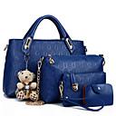 Image of Da donna Sacchetti PU (Poliuretano) sacchetto regola Set di borsa da 4 pezzi Cerniera per Casual Per tutte le stagioni Blu Nero Rosso