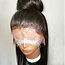 Image of Cappelli veri Senza colla e con tulle frontale / Lace frontale Parrucca Brasiliano Liscio Parrucca 130% Attaccatura dei capelli naturale / Parrucca riccia stile afro / 100% Vergine Per donna Corto