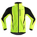 Image of Arsuxeo Per uomo Giacca da ciclismo Bicicletta Giacca di pelle / Inverno Giacche in pile / Fleece / Top Antivento, Tenere al caldo, Traspirante Strisce Poliestere, Elastene, Vello Inverno Arancione