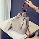 Image of Per donna Sacchetti PU sacchetto regola Set di borsa da 2 pezzi Nappa Nero / Rosa / Grigio chiaro