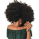 Image of Dolago Con clip Estensioni dei capelli umani Riccio Cappelli veri Extension di capelli umani Brasiliano Naturale 7 pz Inodore Naturale 100% Vergine Tutti Nero Naturale