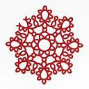 Image of casa multifunzione creativo ecologia semplice modello fiore artigianato cavo isolante in poliestere pad placemat antiscivolo antiscivolo